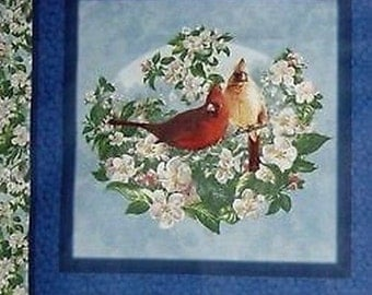 Fabric patchwork/decoration 1 thumbnail BIRDS