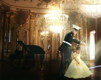 Beauty and the Beast Backdrop | Belle Background | Ballroom Backdrop | Grand Piano Backdrop | Chandelier Backdrop | Princess Backdrop |