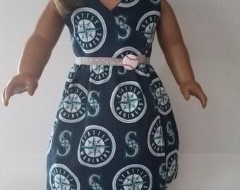 "18"" Girl Doll Mariners Dress"