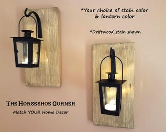hanging lantern sconces farmhouse decor set of 2 hanging sconces rustic wall sconces