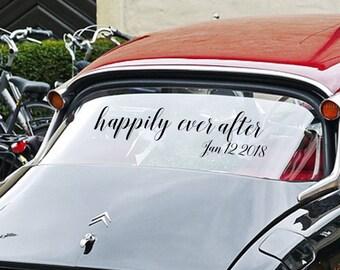 Bridal Car Signs Etsy - Cool car decals designpersonalized whole car stickersenglish automotive garlandtc