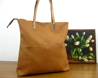 SALE - 50%, LEATHER TOTE bag -  Leather Tote - Shoulder Bag - Leather Handbag - Tote Bag - Large Leather Bag, Natural leather