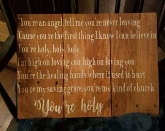 Custom lyrics, wall decor, personalized home decor