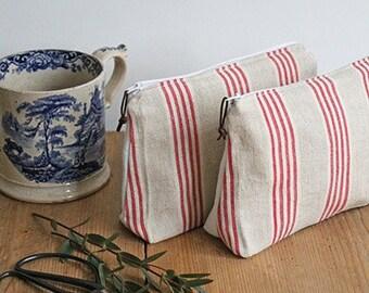 Red Stripe Washbag