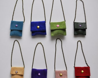 Purse, bag, shoulder bag, clutch purse, evening bag, pocketbook from  suede  of different colors, blythe accesories