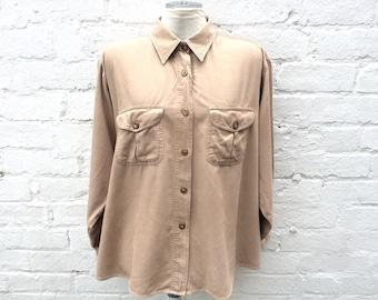 Cord shirt, corduroy blouse, plus size 90's fashion
