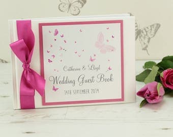 Personalised Butterfly Wedding Guest Book