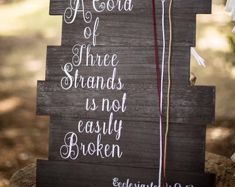 A Cord of Three Strands- Ecclesiastes 4: 9-12