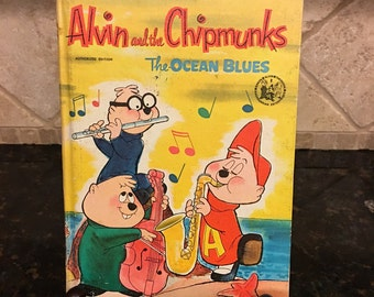 Alvin and the Chipmunks ~ The Ocean blues 1966 A Whitman BIG Tell-a-Tale Book