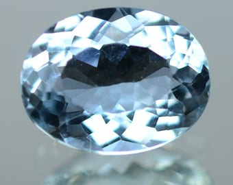 1.45 Ctw Lovely Color & Quality Best Blue Natural Aquamarine