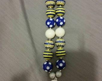 Smurfette child size chunky bead necklace