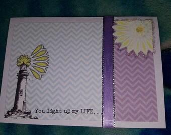 You Light up my World Card