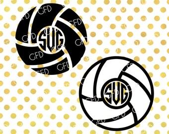 Volleyball Monogram Frame SVG, Volleyball Bundle SVG, Ball Svg, Volleyball Digital Cut File, Instant Download, Svg, Dxf, Jpg, Eps, Png