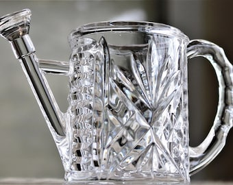 Cut Crystal Watering Can Figurine