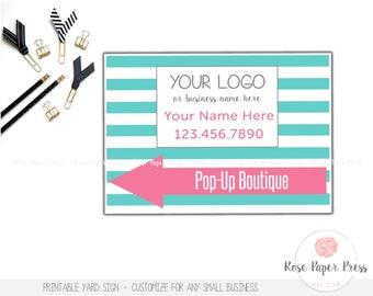 Yard Sign – Stripes | Custom Printable Sign | Lawn Sign, Banner, Color Options
