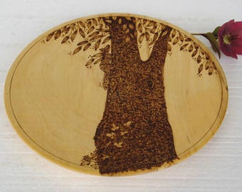 Sycamore dish / Sycamore platter / Wooden dish / Sycamore dish / Food platter
