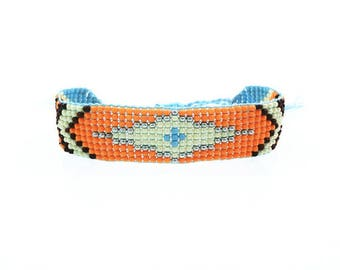 Arizona spirit boho bracelet / / / woven seed beads