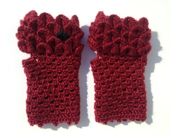 Lord of the Rings LOTR SMAUG dragonscale gloves - fantasy lover, scale gloves, dragon, mermaid gloves, fingerless crochet, dragon gloves