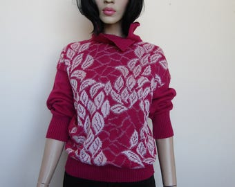 Pink knitted jumper, Size 10/12