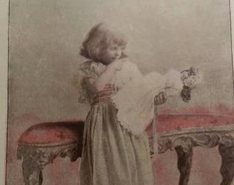 8x6 lot of 7 color photographs ephemera vintage book prints.