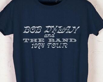 BOB DYLAN and The Band - 1974 Tour Vintage Reprint, Navy T-Shirt