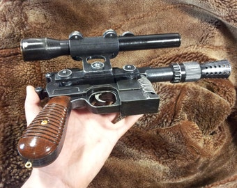Star Wars  blaster DL-44 - Han Solo - Battlefront - 3D printed - cosplay - props - gun -weapon