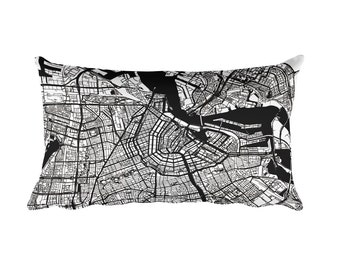 Amsterdam Pillow, Amsterdam Throw Pillow, Amsterdam Decor, Amsterdam Map, Amsterdam Art, Amsterdam Netherlands, Amsterdam, Cushion