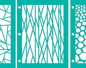 Vicki Boutin Mixed Media Stencil Pack - Linear or Circle