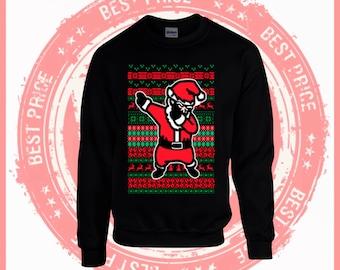 On Sale Today Dabbing Santa- Ugly Christmas sweater-Merry Christmas sweater-ugly sweater party-Merry Christmas ya filthy Animal