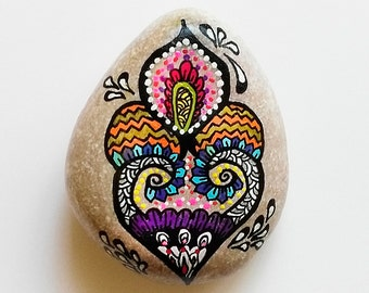 Hand Painted Stone Drop