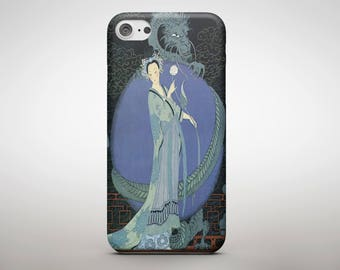 Girl with Dragon iPhone 7 Case 6S 5 4 S SE Samsung Galaxy Case Android Gift Idea Asian Style Art Gorgeous