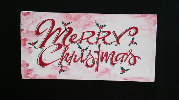 Whimsical Colorful Signs for the home Merry Christmas Wall Hanging Holiday Decorating