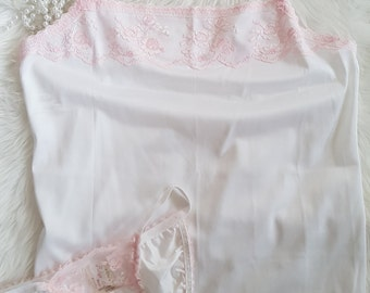 White camisole and bikini pants set
