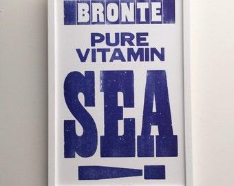 Bronte Pure Vitamin Sea Letterpress Print