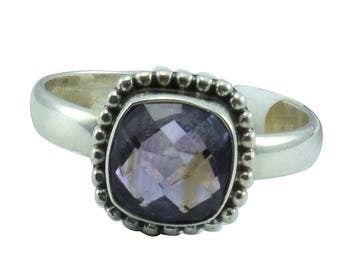 Shipping Free Gorgeous Purple Amethyst Gemstone Silver ring, 925 Sterling Silver ring, Fabulous Gemstone Silver Handmade Ring Jewellery 47