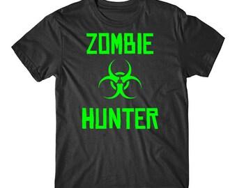 Neon Biohazard Zombie Hunter T-Shirt