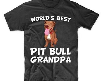 World's Best Pit Bull Grandpa Dog Owner T-Shirt