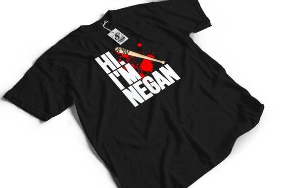 Hi I'm Negan T-Shirt - The Walking Dead Funny Gift Idea