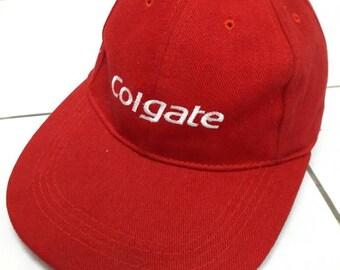 Sale!! Rare Colgate Cap Adjustable Leather/Red