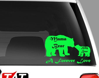 Mama and Baby Bear Forever Love Decal