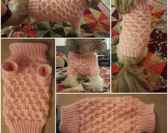 Small hand knitted dog sweater