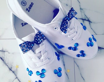 Gems and bow lace ups