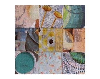 Douceur | Pastels | Patchwork Collage | Mixed Media | 20x20cm