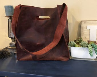 Leather Bag with Handle