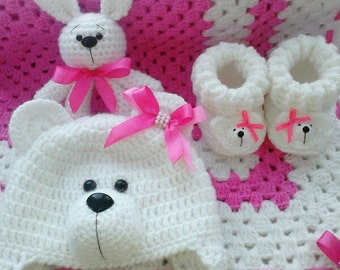 Set for newborn. For girl. For boy.Baby gift set.Suitable from birth.
