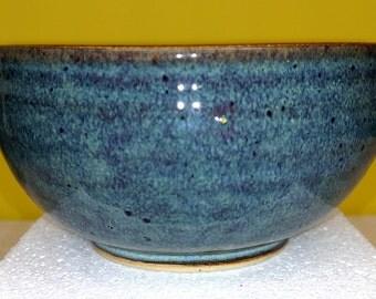 BLUE GREEN Stoneware Bowl by TC Pottery Studio - Handmade