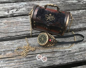 Steampunk Lady's Purse with Accessories