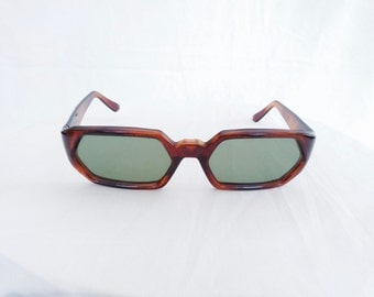 50% Off! 1960s Hexagon Tortoise Sunglasses