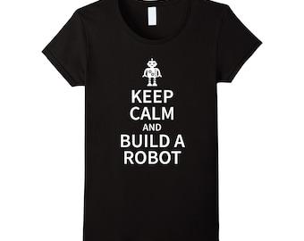 Robot Tshirt, Robot T Shirt, Keep Calm Shirts, Future Shirt, Tech Shirt, Geek Shirt, Nerd Shirt, Geek T Shirt, Geek Tshirt, Nerd Tshirt