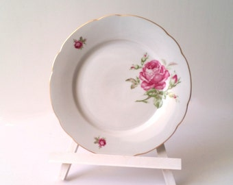 Pretty breakfast plate(s) with rose pattern